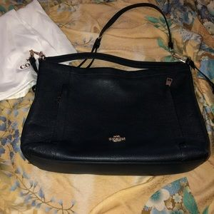 Coach Navy Leather Purse